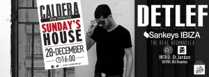Guest: Detlef    Caldera Sunday's House    28 December (16:00)