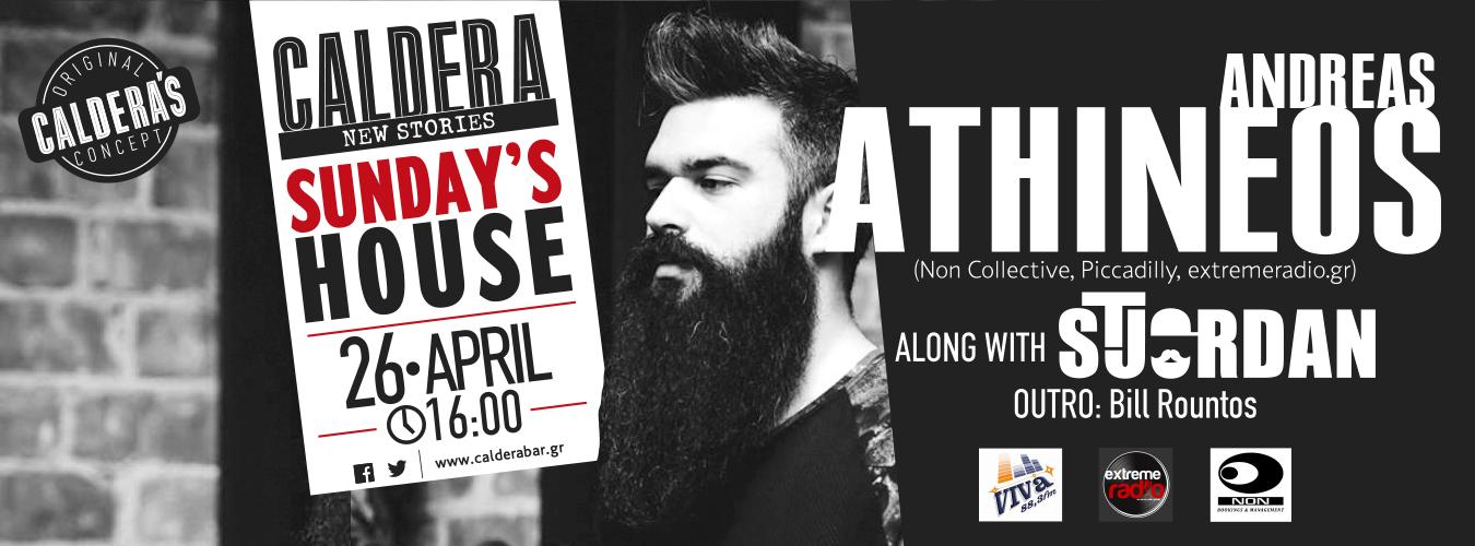 Andreas Athineos || 26 April (16:00) || @Caldera Sunday's House